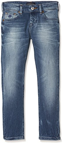 Scotch & Soda Shrunk Jungen Jeans Nos-Strummer-Meeting Point Blau (Meeting Point 732), 146 (Herstellergröße: 11)