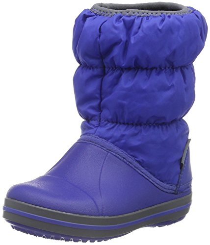 crocs Winter Puff Boot, Unisex-Kinder Schneestiefel, Blau (Cerulean Blue/Light Grey 4BH), 28/29 EU (C11 Unisex-Kinder UK)