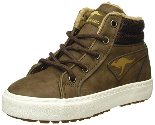 KangaROOS Unisex-Kinder Kavu I High-Top, Braun (Dk Brown/Sand 343), 35 EU